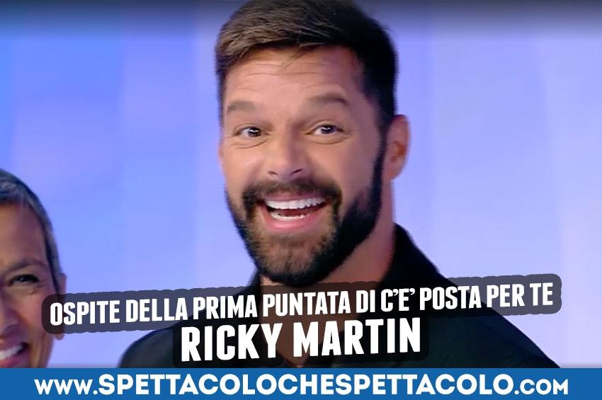 Ricky Martin ospite a C'è posta per te