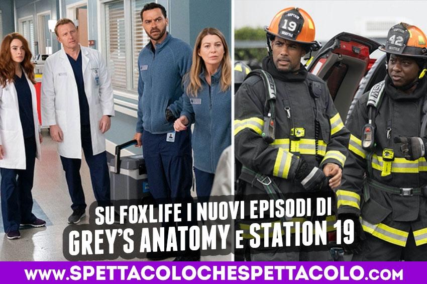 Grey's Anatomy e Station 19 tornano su FoxLife dal 24 febbraio