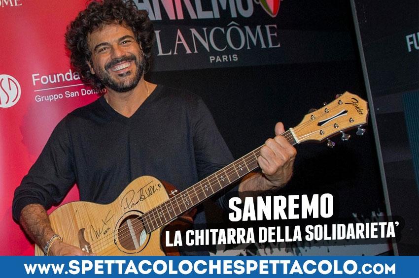 Sanremo 2019: la chitarra della solidarietà