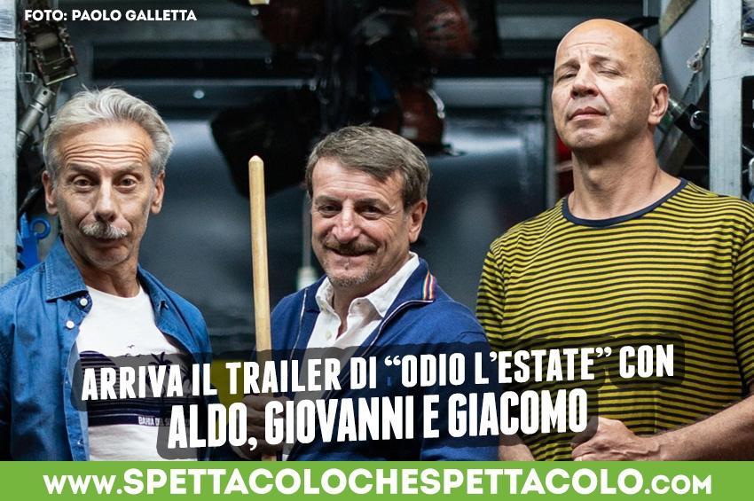Odio l'estate, il nuovo film di Aldo, Giovanni e Giacomo