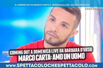 "Marco Carta fa coming out e dice:""Ora sono libero"""